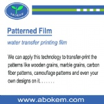 Water Transfer Printing Patterned Film